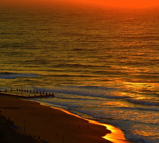 durban beach sunrise